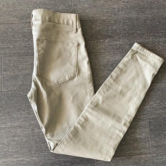 Zara skinny coated jeans